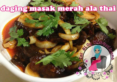 resepi daging,masakan daging,resepi daging masak merah,resepi daging masak merah ala thai,cara membuat daging masak merah ala thai,bahan membuat daging masak merah ala thai.