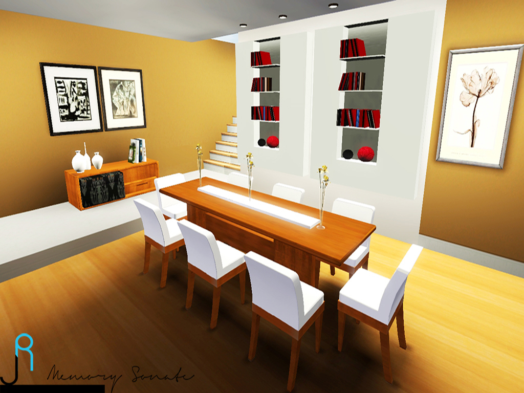 My sims 3 blog wooden dining set by lory story for Sims 3 dining room ideas