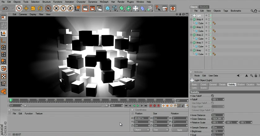 cinema 4d volumetric light cg tutorial. Black Bedroom Furniture Sets. Home Design Ideas