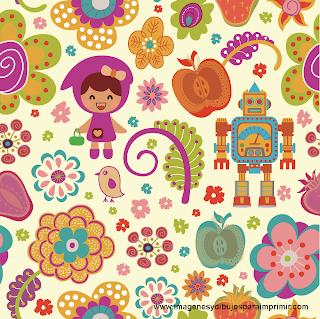 Imagen fondo infantil para imprimir