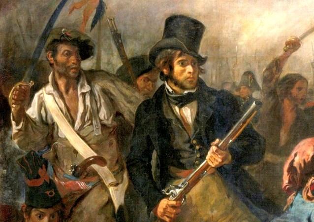 Dare d 39 art delacroix la libert guidant le peuple 1830 - Tablier de forgeron ...