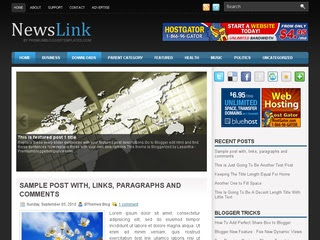 NewsLink Prosense Blogger Template