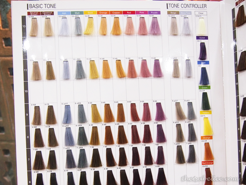 Milbon hair colour choices