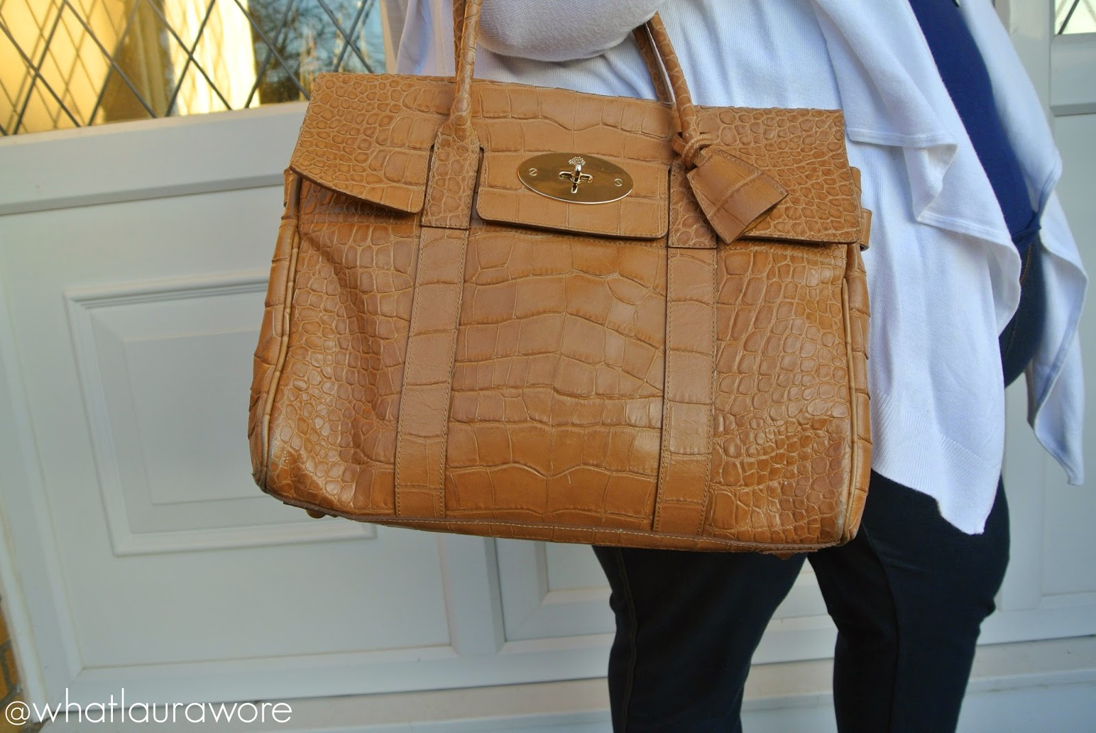 Mulberry Bayswater in Soft Croc Biscuit Brown Review