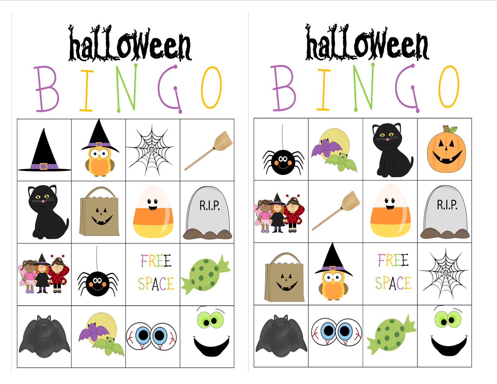 It's just an image of Ridiculous Printable Halloween Bingo Cards