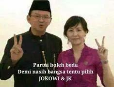 Ahok dan istri Dukung Jokowi
