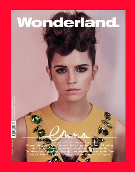 Emma Watson cover for Wonderland magazine February 2014
