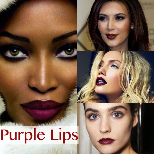 Fall Beauty Trends: Purple Lips