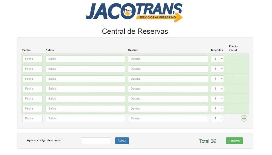 Reserve online desde aquí. Pida su código de descuento a jacotrans@gmail.com