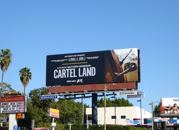 Cartel Land documentary billboard