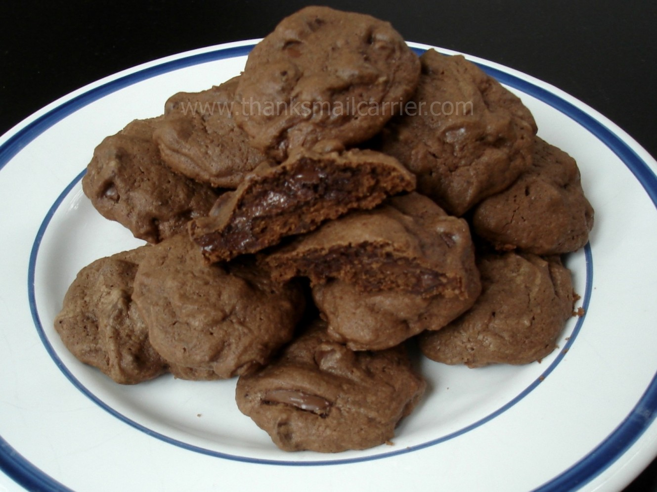 Thanks, Mail Carrier | Chocolate Nutella Surprise Cookies {Recipe}