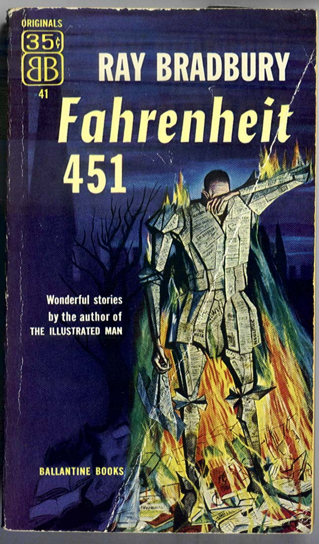 an analysis of ray bradburys book fahrenheit 451 Fahrenheit 451 is based on a short story called the fireman written by bradbury in 1951 and later expanded into a full novel in 1953 the fahrenheit 451 study guide contains a biography of ray br.