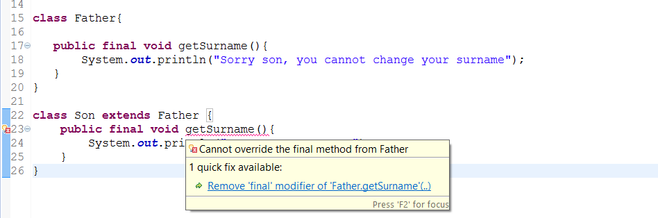 How to write template method in java
