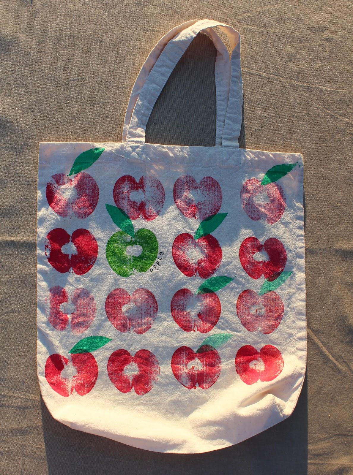 Küchentücher Bedrucken Mit Kindern ~ mimismami apfeltaschen stofftaschen mit obst bedrucken