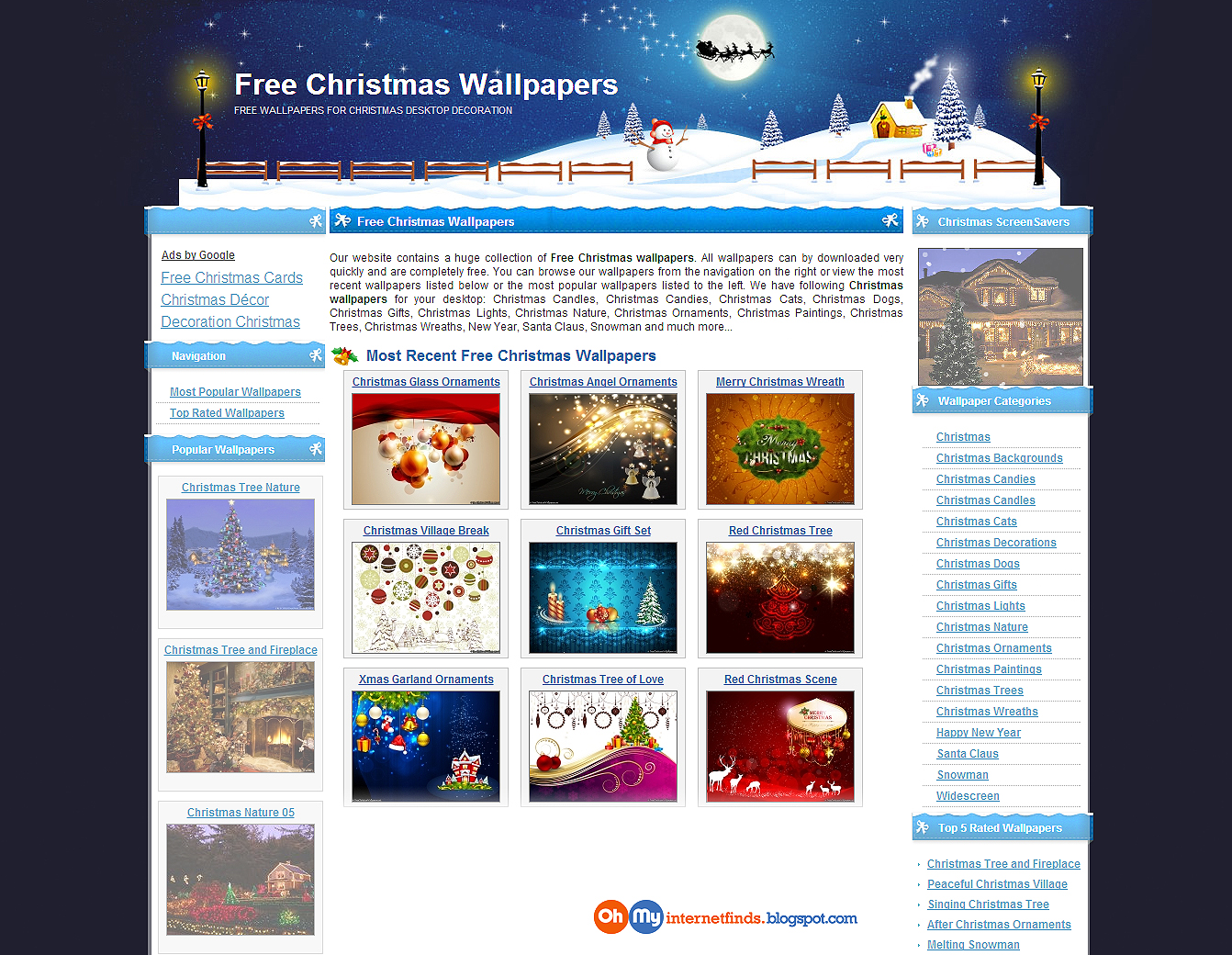 9 Free Christmas Desktop Wallpapers | Oh My! Internet Finds