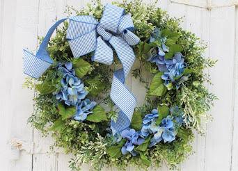 Summer Blue Hydrangea Wreath