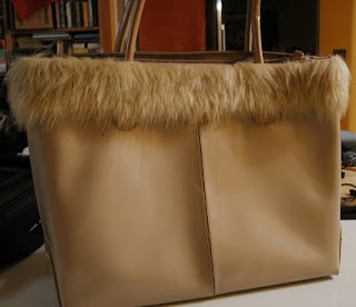 faux fur trimmed bag