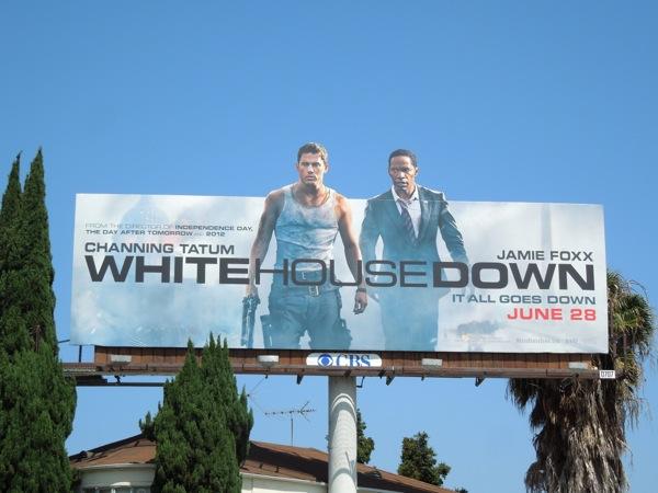 White House Down billboard