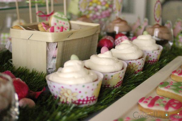 Easter garden party cupcakes