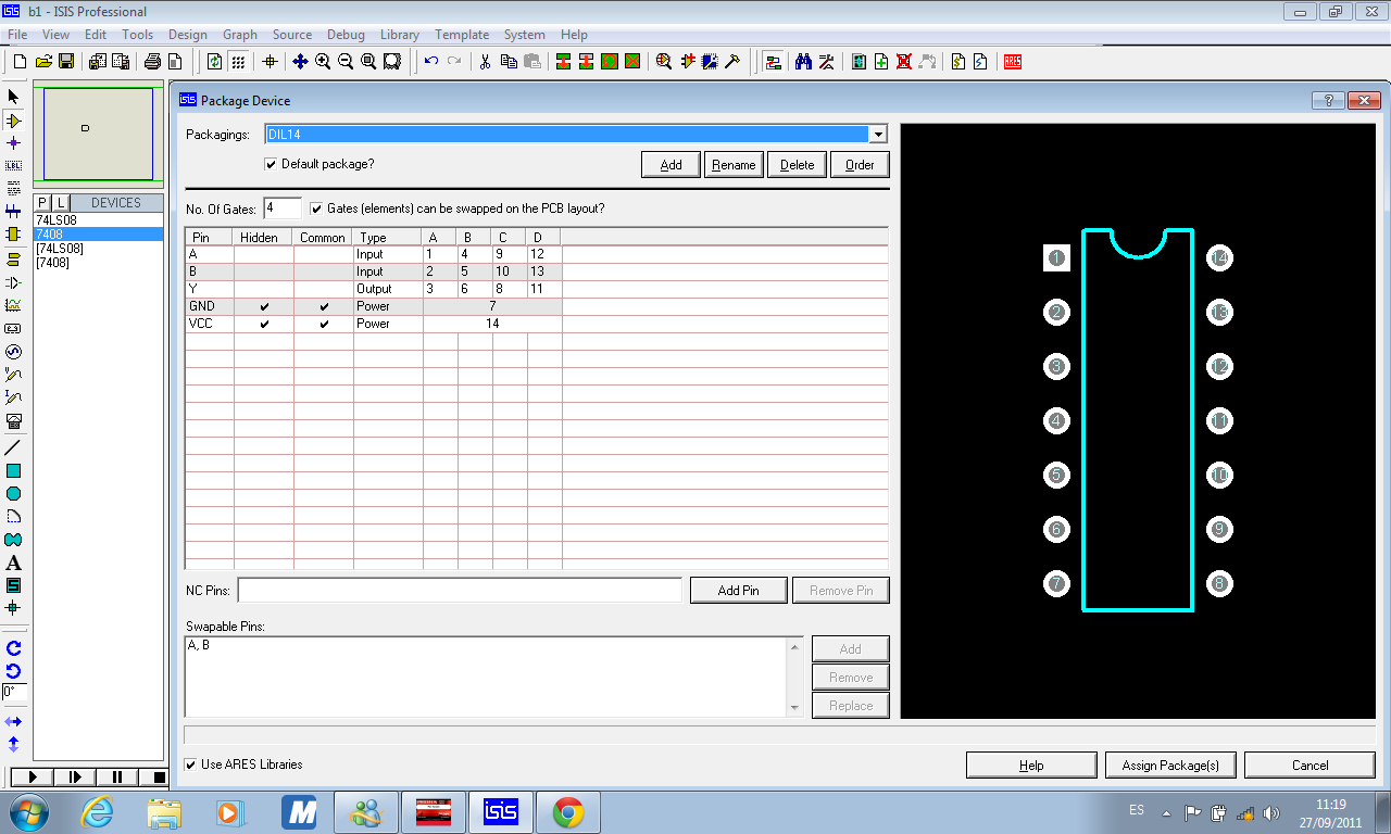 Circuito Integrado 7408 : Comprobación de compuertas and mecatrÓnica