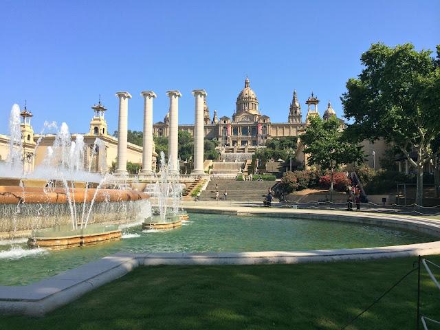 Barcelona, Spanyol,Eropa,Wisata,Travelling, Museu Nacional d'Art de Catalunya,The Palau Nacional,Monjuict