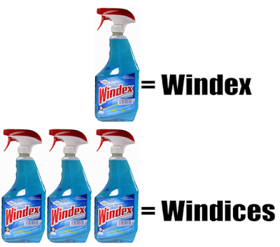 The plural of Windex is Windices
