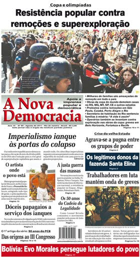 Site do jornal A Nova Democracia