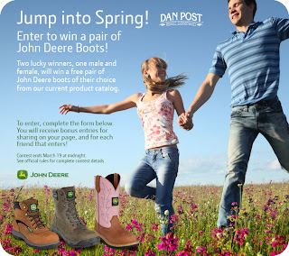 Enter to Win John Deere Boots