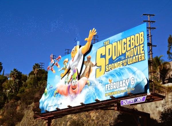 SpongeBob Movie bubbles billboard spectacular