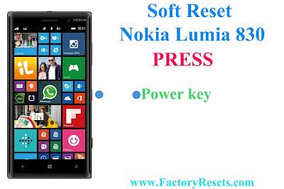 Soft Reset Nokia Lumia 830