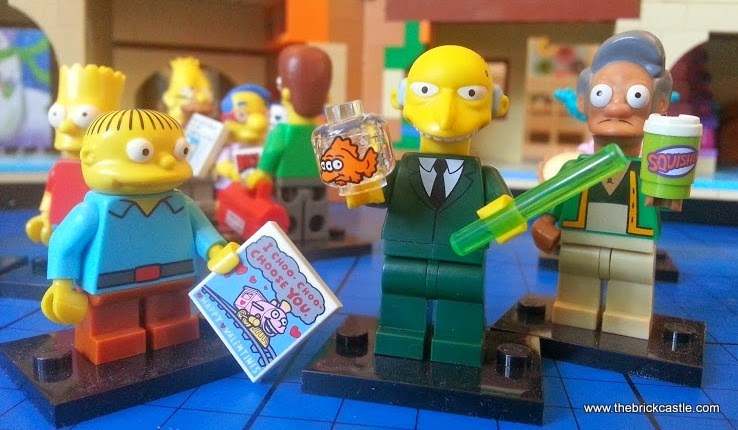 LEGO Simpsons Mr Burns and Ralph Wiggum minifigures