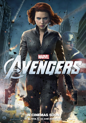 The Avengers International Character Movie Posters - Scarlett Johansson as Black Widow & Chris Evans as Captain America