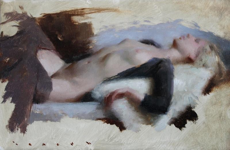 D.W.C. Resting Nude - Painter Joseph Todorovitch