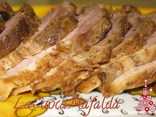 arrosto di maiale alle prugne