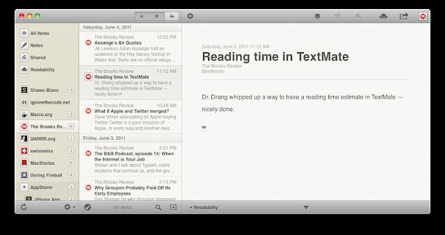 Reeder News Reader(Mac Style)