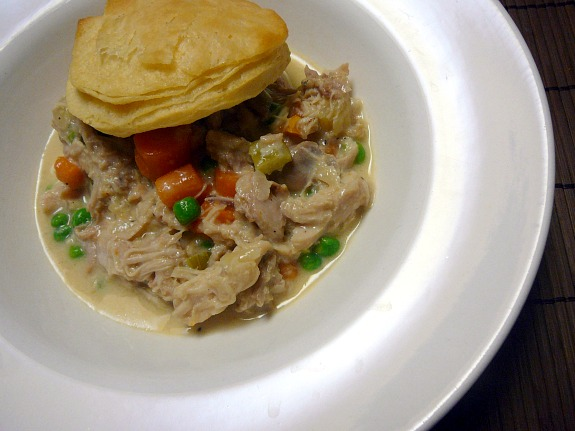 Mostly Food and Crafts: Creamy Slow Cooker Chicken with Biscuits