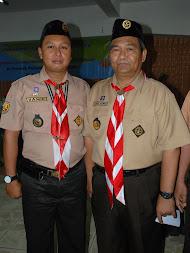 Foto bersama Ketua PUSDIKLATCAB Kab. Sukabumi bersama Ka. Kwarnas
