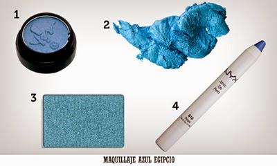 Maquillaje Azul Egipcio
