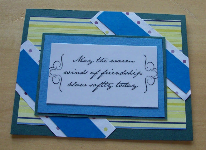 friendship card using 3 mystery pieces of paper