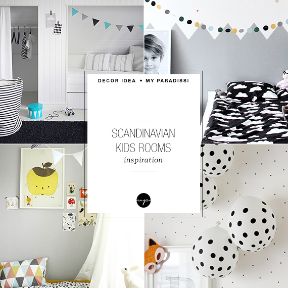 Scandinavian eclectic kids rooms | My Paradissi