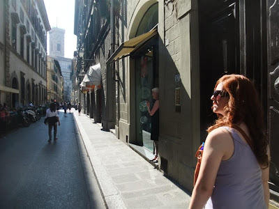 walking on the street, florence italy