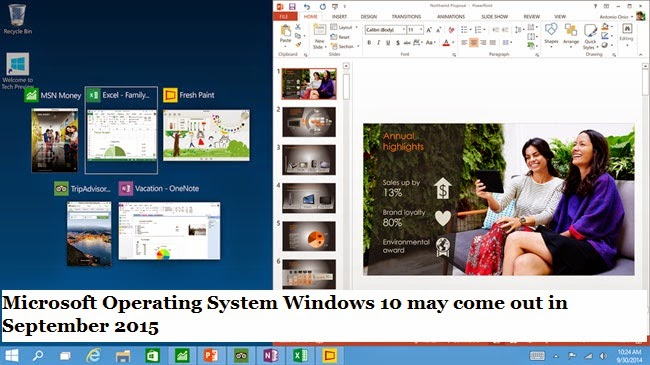 Microsoft Operating System Windows 10 may come out in ...