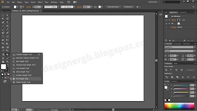 Öncelikle illustrator toolbarından Pie Graph Tool 'u seçiyoruz.