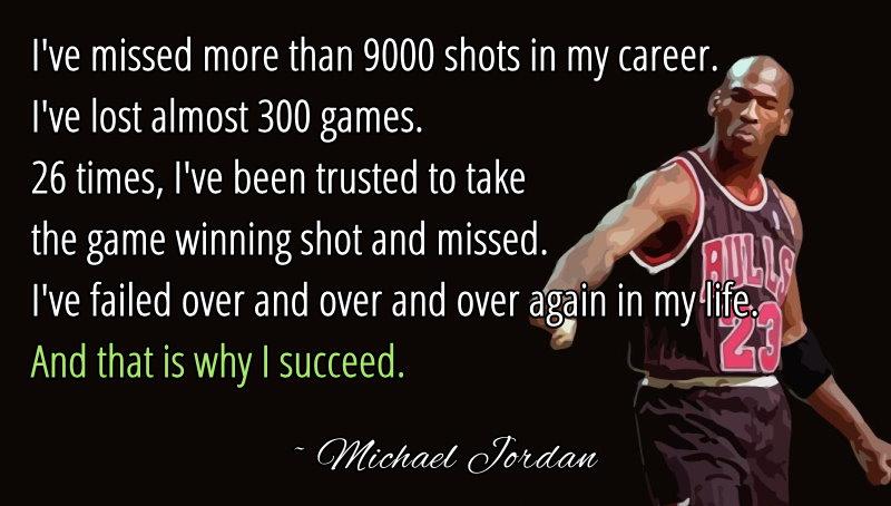 fitness motivation michael jordan failure is the