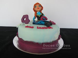 frozen anna bolo aniversário bragança
