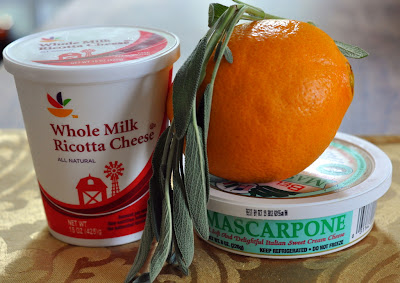 Ingredients for Orange Sage Ricotta Dip - Photo by Michelle Judd of Taste As You Go
