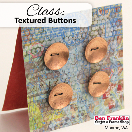 Texture Buttons - learn to texture, pierce and shape copper and brass blanks