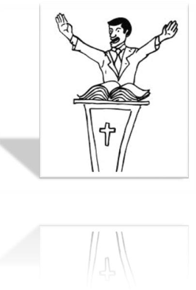 pregando a palavra no pulpito