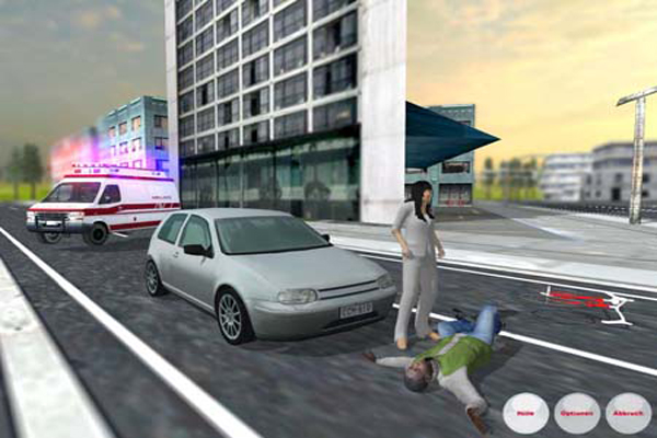 Screen Shot Of Ambulance Simulator (2012) Full PC Game Free Download At Downloadingzoo.Com