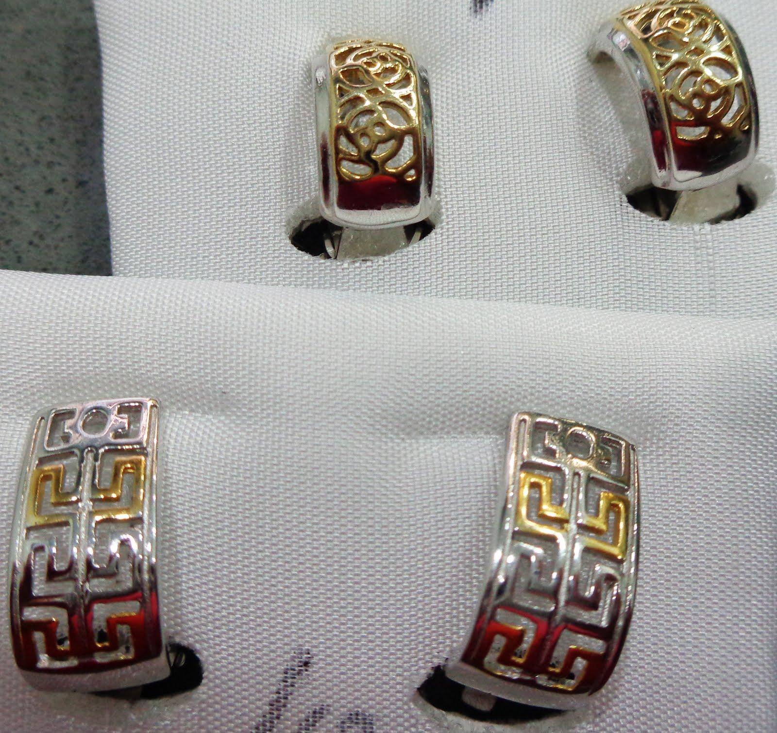 Pendientes de plata con cierre de pinza